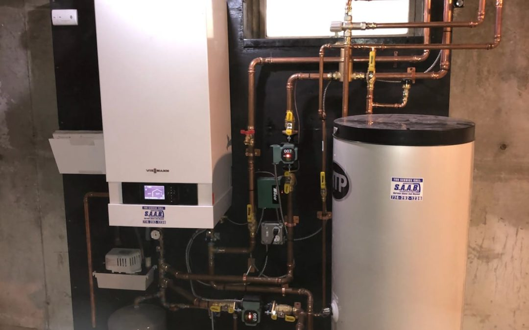 high efficiency boiler installed by S.A.A.B. Plumbing Heating